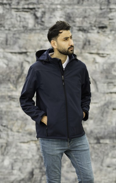 Herren Hooded Softshell Jacket
