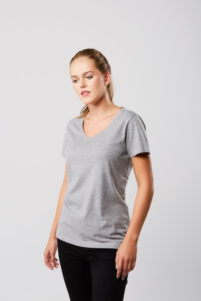 Damen Luxury V-Neck Tees