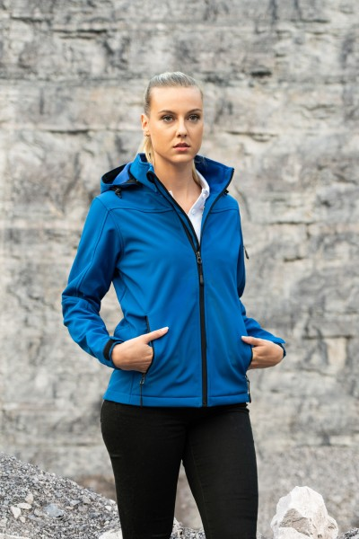 Damen Hooded Soft-Shell Jacket
